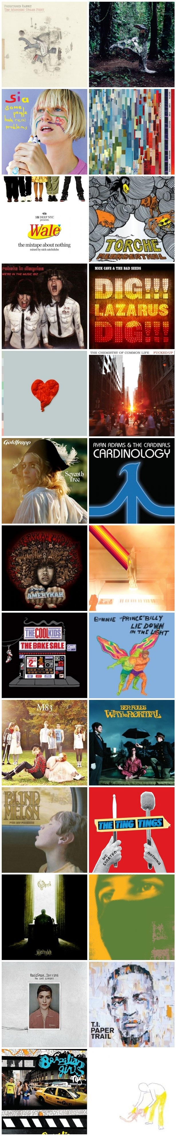 album1 CoS Year End Report: The Top 100 Albums: #100   #51