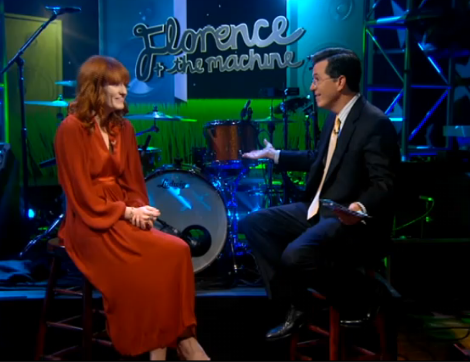 florence colbert Video: Florence and the Machine stop by The Colbert Report
