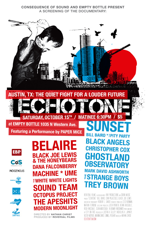 CoS and Empty Bottle Presents: A screening of the documentary Echotone