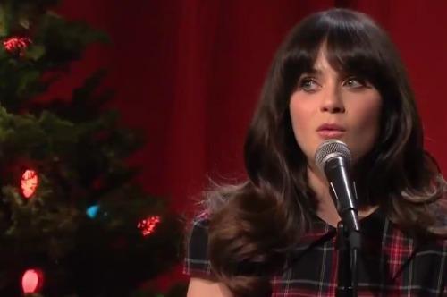 sheandhim1 Video: She & Him dances The Christmas Waltz on The Tonight Show