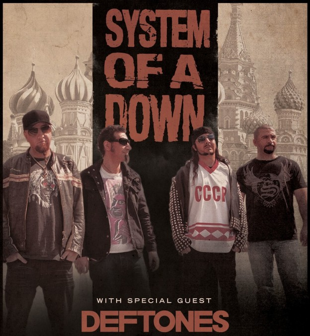 system of a down deftones Summer Concert Tour Guide 2012