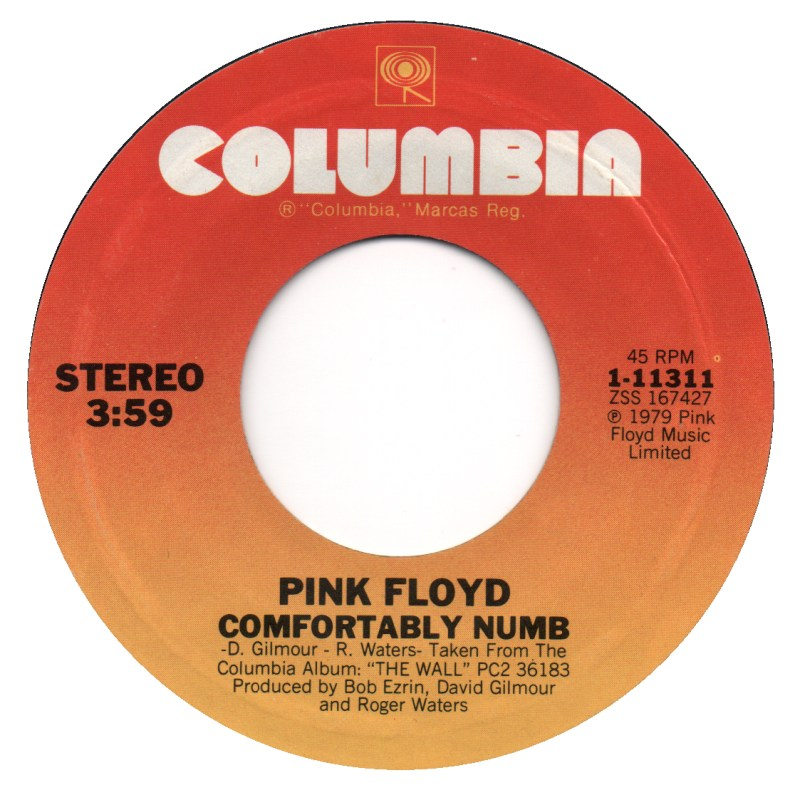 pink floyd comfortably numb Top 100 Songs Ever: 100 51