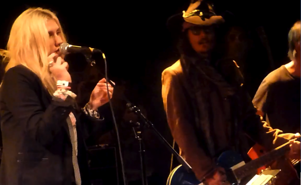 screen shot 2012 11 15 at 2.19.29 pm e1353010840910 Watch Johnny Depp, Patrick Carney, and Ke$ha cover Tom Petty together