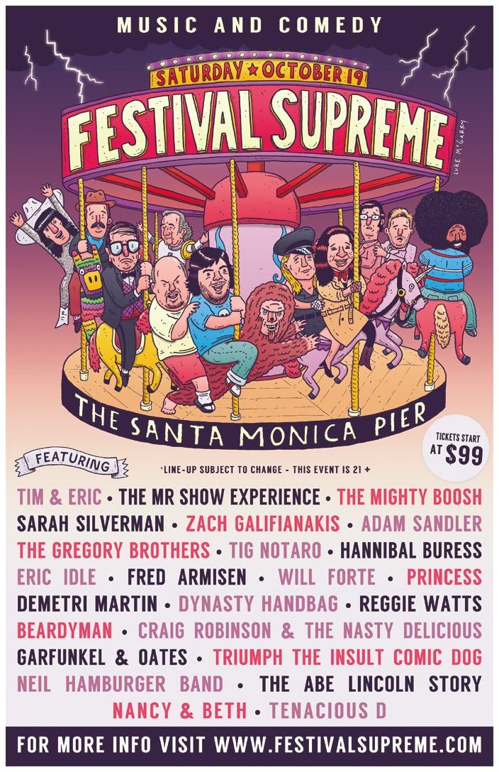 festivalsupreme Tenacious Ds Festival Supreme nabs pretty much every comedian alive