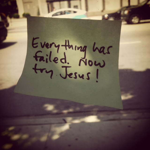 failedjesus The Top 10 Songs About Jesus (by Christian Artists)