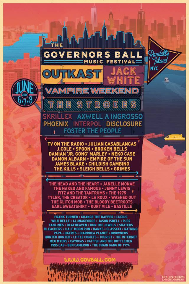 governors ball 2014 Governors Ball reveals 2014 lineup: OutKast, Jack White, The Strokes
