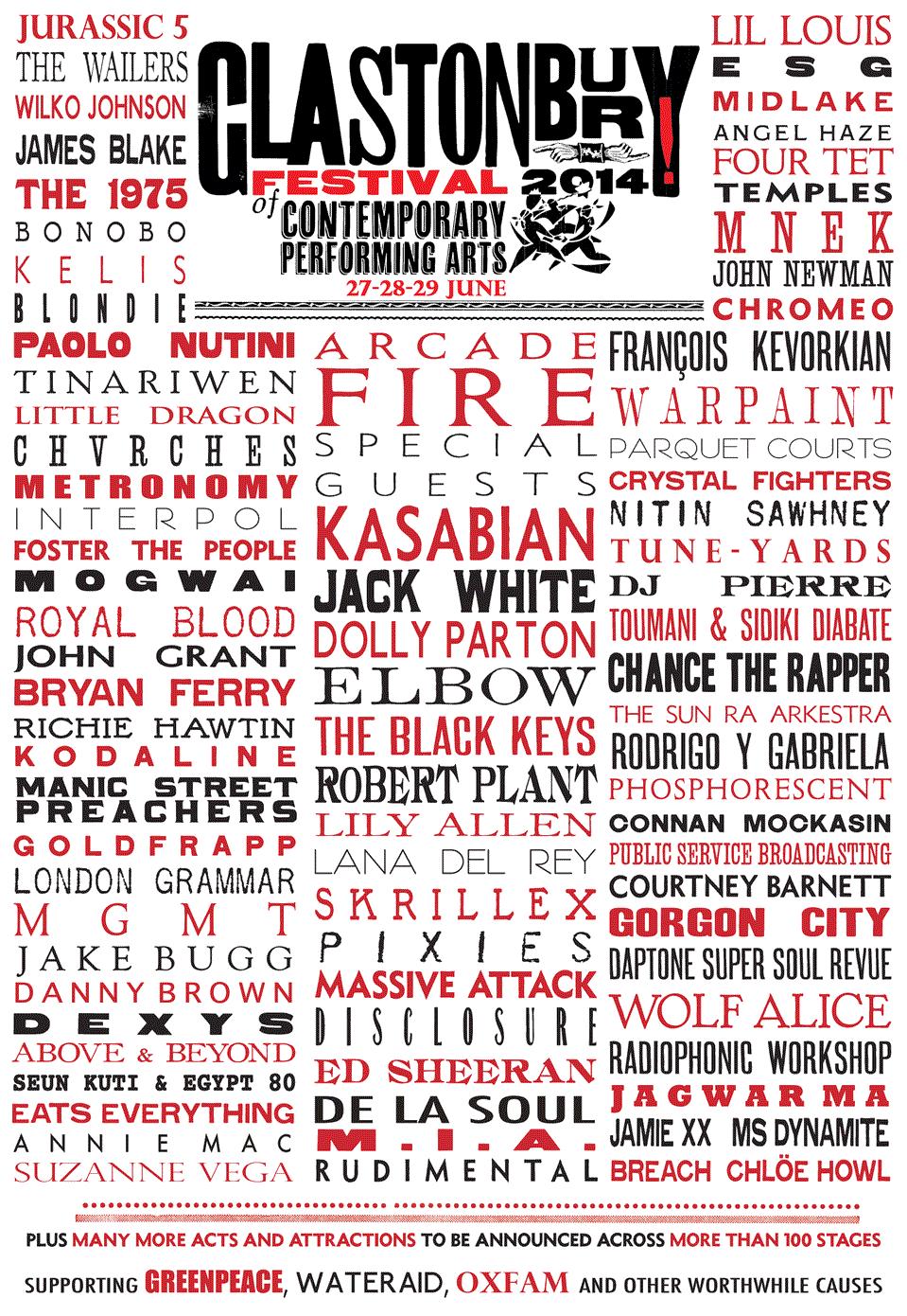 glastonbury2014 Glastonbury reveals 2014 lineup