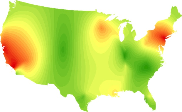 rockmap Heres a map of Americas musical preferences by genre