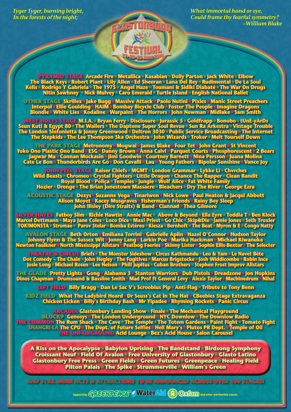 glastonbury 2014 lineup