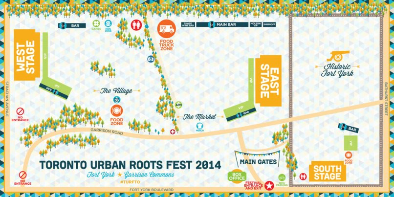turf map 2014 Toronto Urban Roots Festival Has It All Figured Out