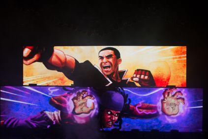 Drake vs. Lil Wayne // Photo by Philip Cosores