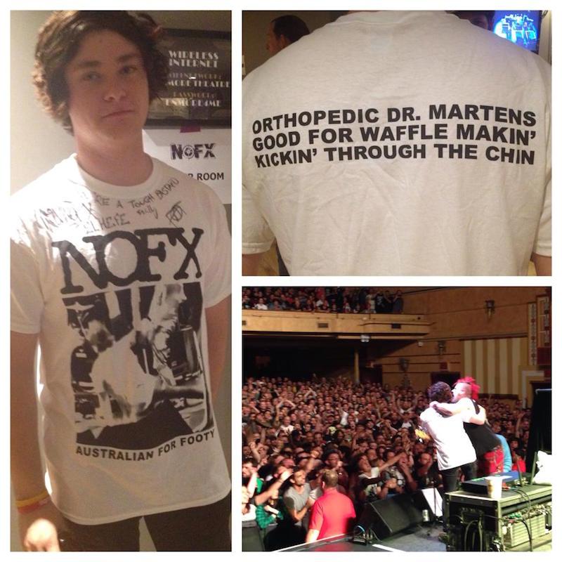 NOFX tshirt for Alex Medak fan