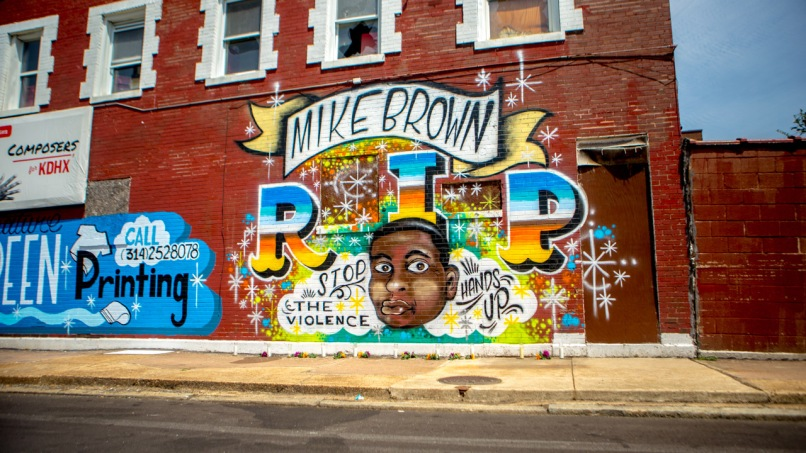 ferguson mike brown mural  Feeling Ferguson: Now Is the Time for Your Tears