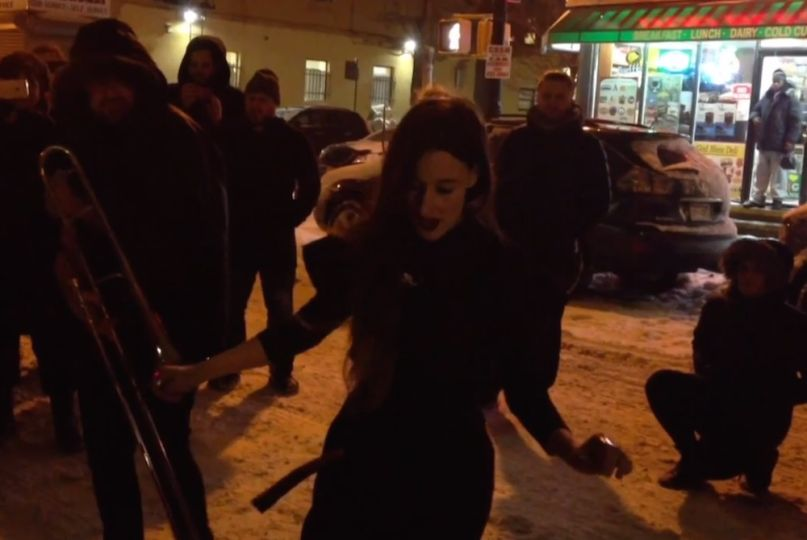 "Zola Jesus performs ""Nail"" Winter Storm Juno"