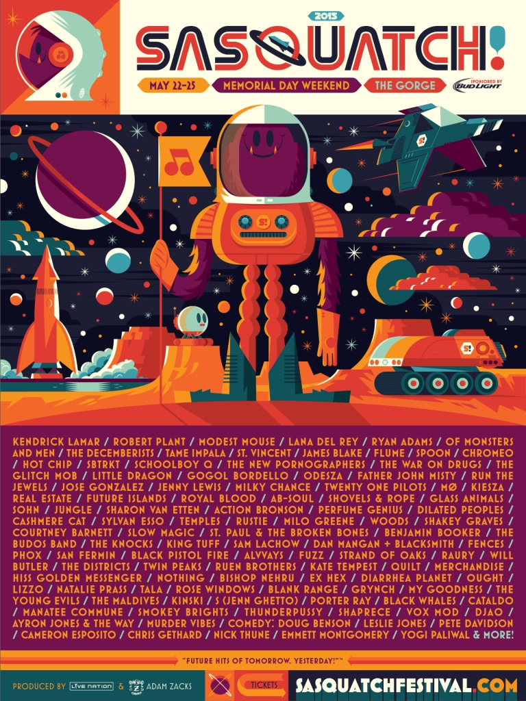 sasquatch2015 Top 10 Music Festivals and Headliners in North America: Spring 2015 Power Rankings