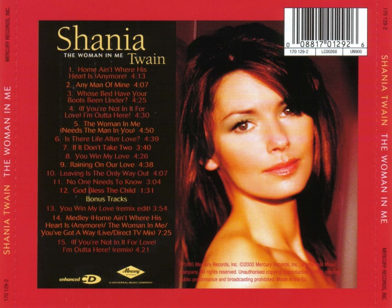 shania twain   the woman in me   back Lydia Loveless Remembers Shania Twains The Woman in Me