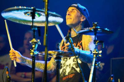 Travis Barker // Photo by Philip Cosores