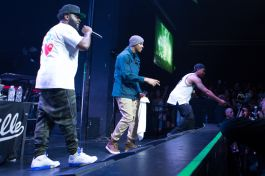 Bas, Omen, and Cozz // Photo by Philip Cosores