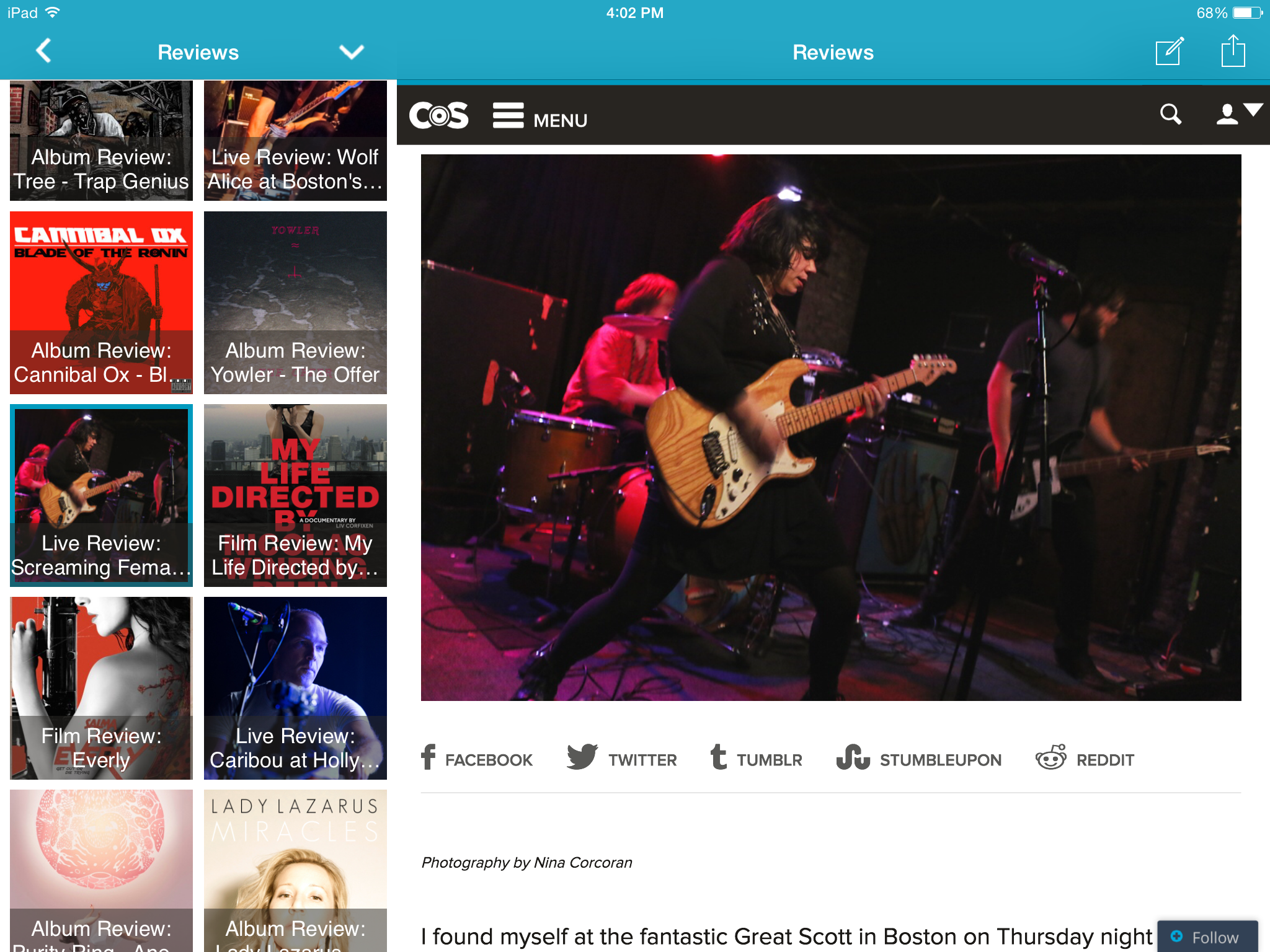 image1 New update available for Consequence of Sound mobile app