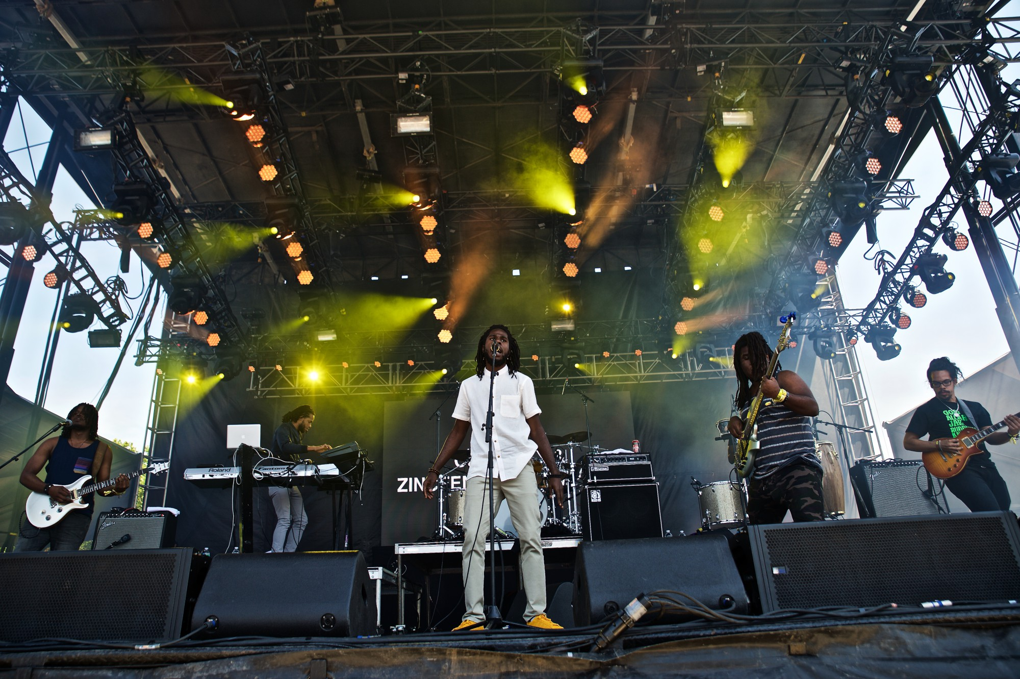 Chronizz and the Zincfence Redemption, featuring lead singer Chronizz  performs at The 2015 Governors Ball Music Festival New York - Day 3