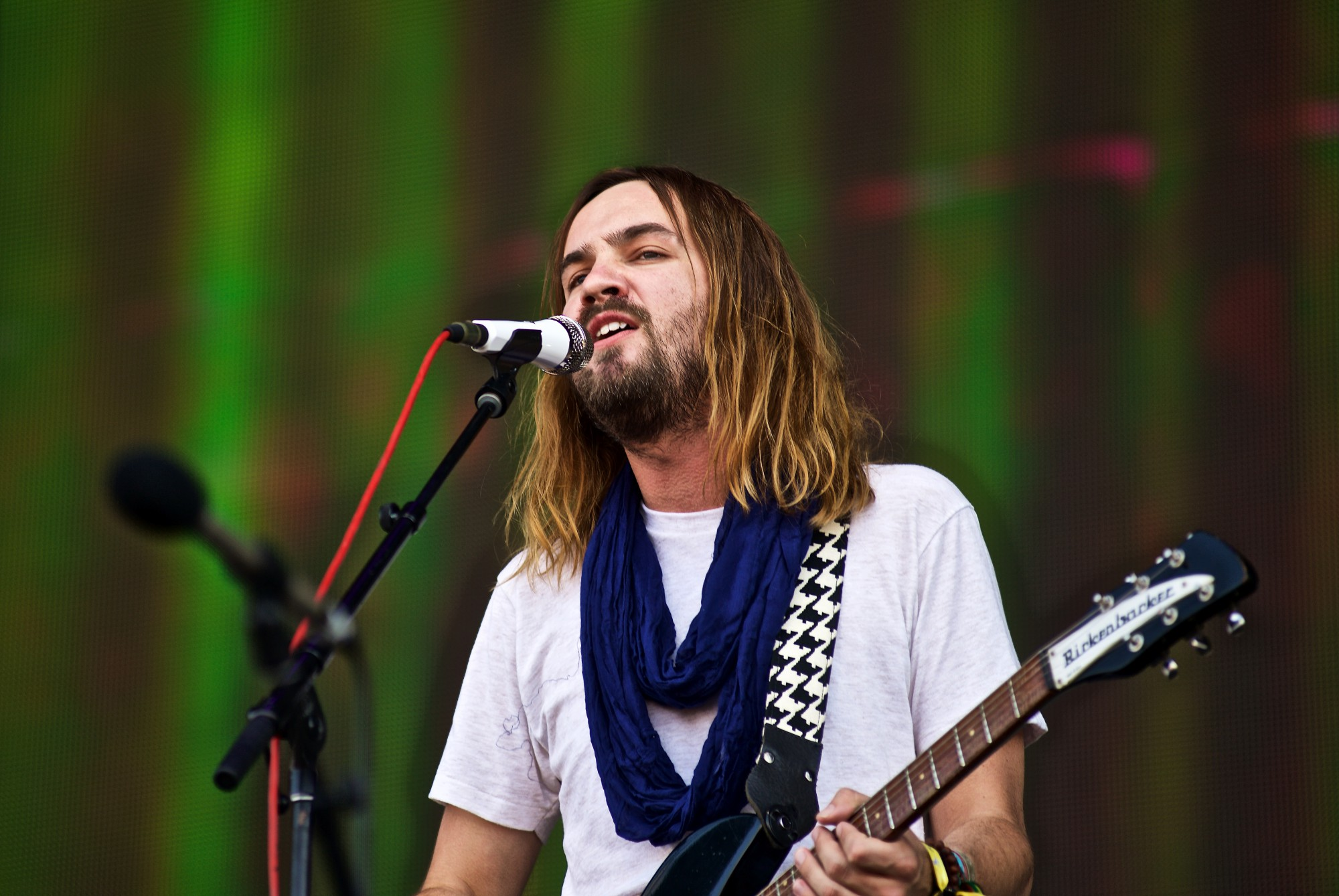 Tame Impala with Kevin Parker on vocals and guitar  performs at The Governors Ball Music Festival