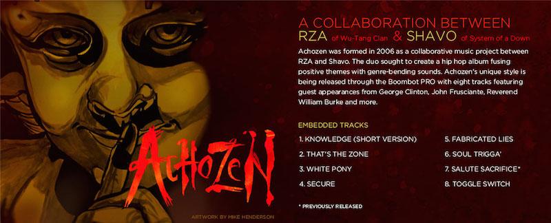 achozen details RZA and System of a Downs Shavo Odadjian reactivate Achozen, release new album