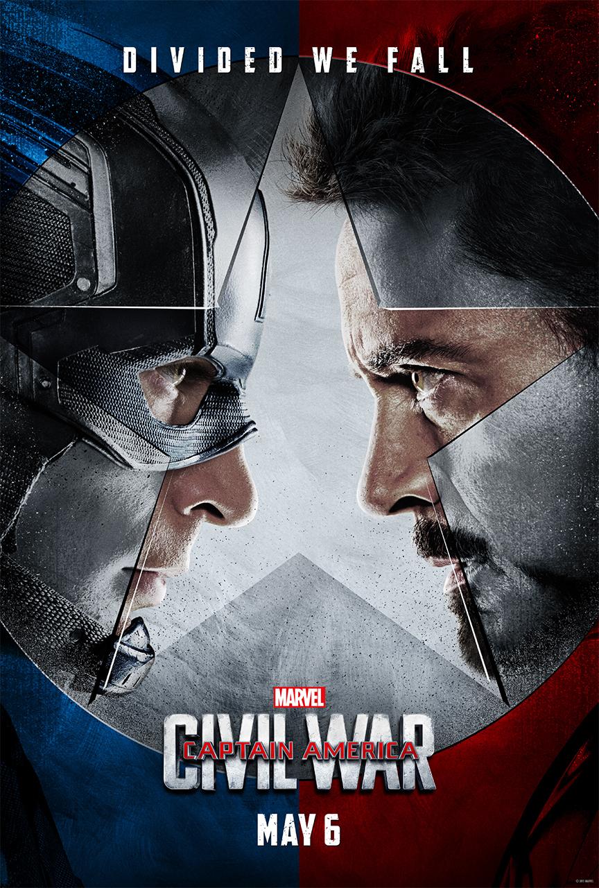 captain american teaser 1 sheet faceoff v3 sm Tony Stark and Steve Rogers duke it out in trailer for Captain America: Civil War    watch