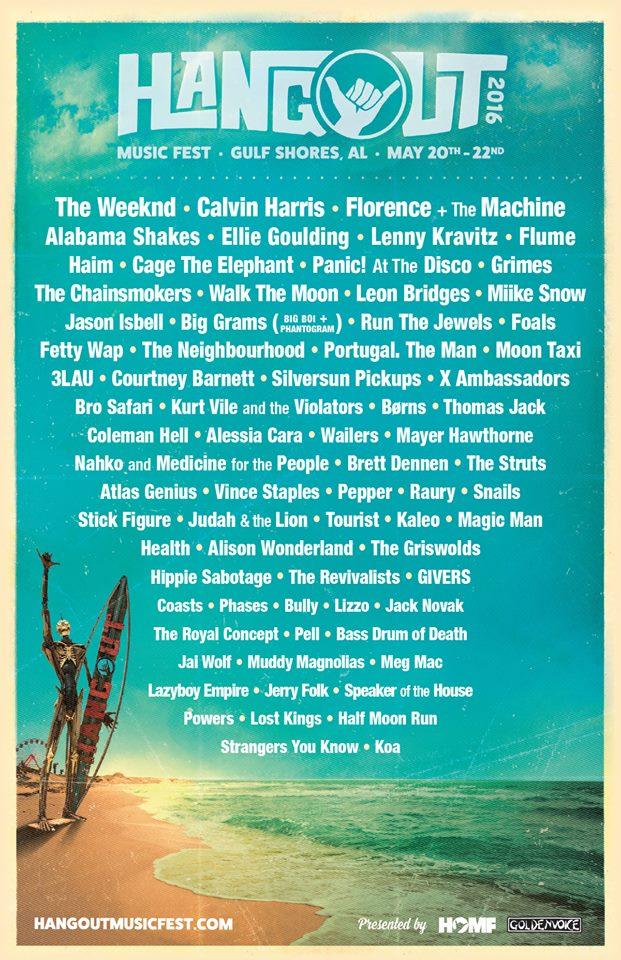 hangout 2016 lineup