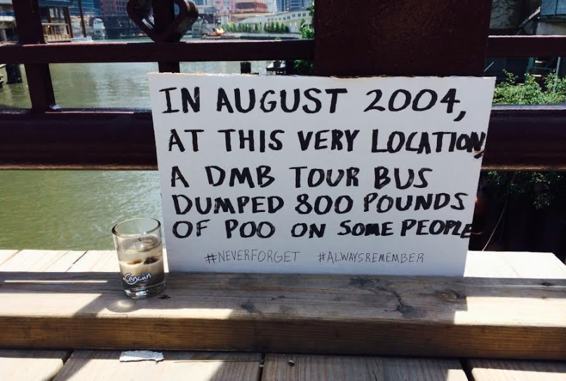 Memorial at Site of Dave Matthews' poop dump