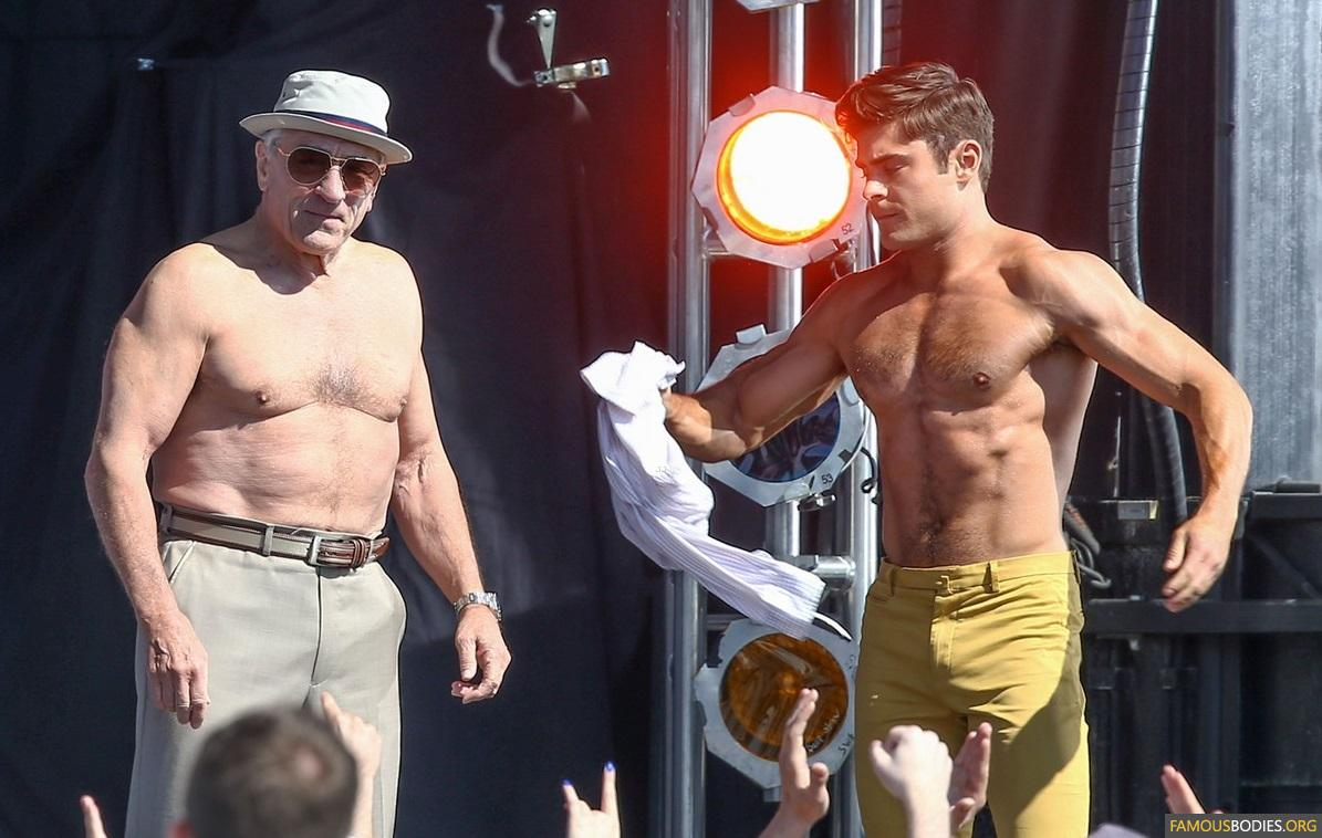 zac efron robert de niro have shirtless contest on set 34 An Open Letter About Dirty Grandpa and Baby Boomer Party Movies