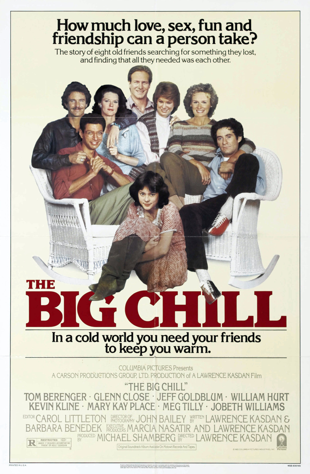 the big chill The 27 Best Film Ensembles: From Boogie Nights to Spring Breakers