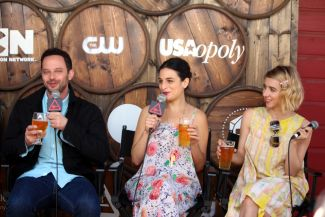 Nick Kroll, Jenny Slate, and Zoe Kazan // Photo by Heather Kaplan