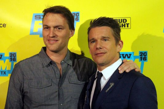 Robert Budreau and Ethan Hawke // Photo by Heather Kaplan