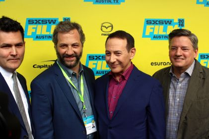 Judd Apatow and Paul Reubens // Photo by Heather Kaplan