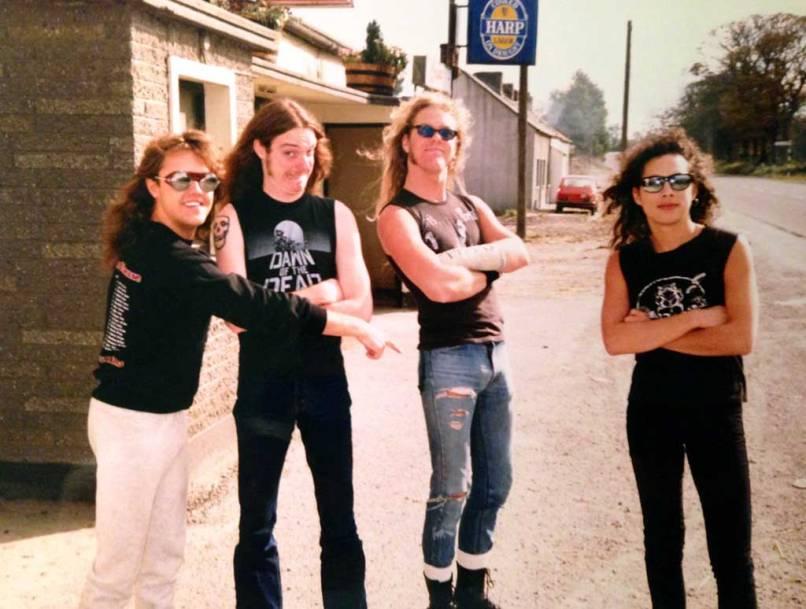 Lars-Ulrich-Cliff-Burton-James-Hetfield-and-Kirk-Hammett-from-Metallica-in-Ireland-1986