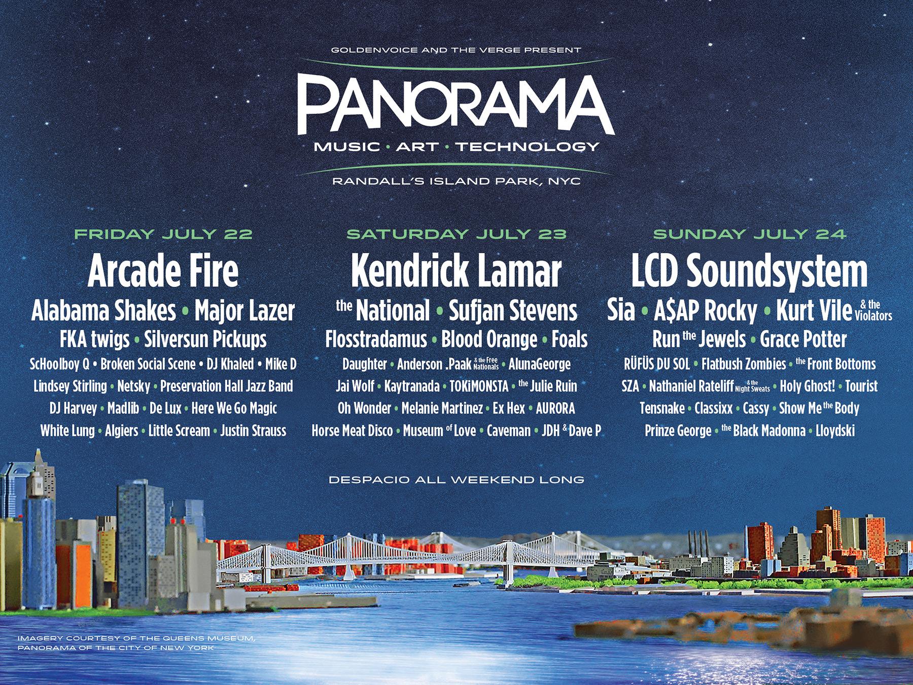 panorama16 web1800x1350 v16 Panorama reveals inaugural lineup: Arcade Fire, LCD Soundsystem, Kendrick Lamar