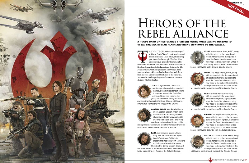 9781942556411 il 1 699f7 Star Wars: Rogue One character details, new ships revealed in leaked visual guide