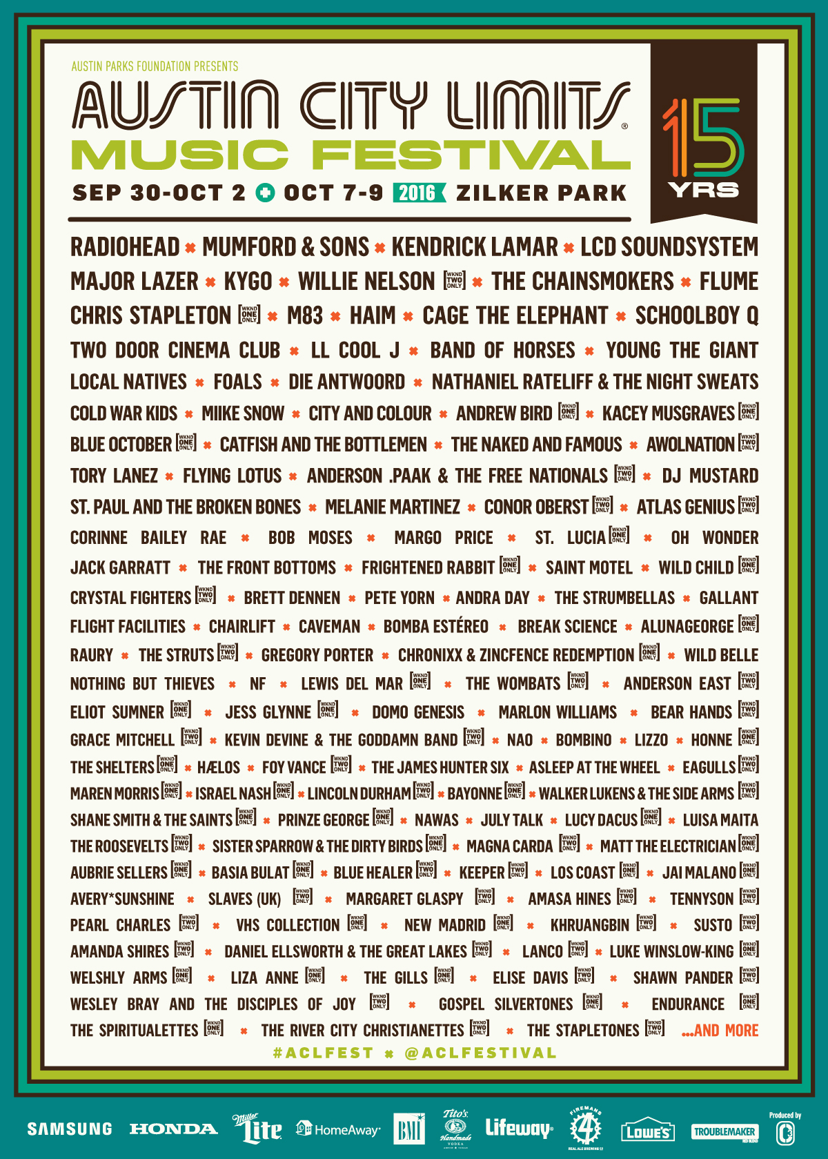 acl festival 2016