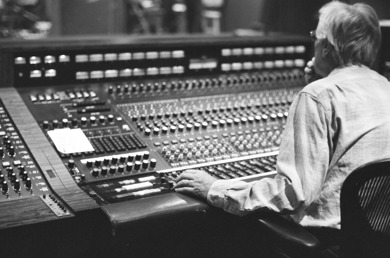 at console 4 From Clapton to The Clash: Legendary Producer Glyn Johns on a Lifetime of Rock and Roll