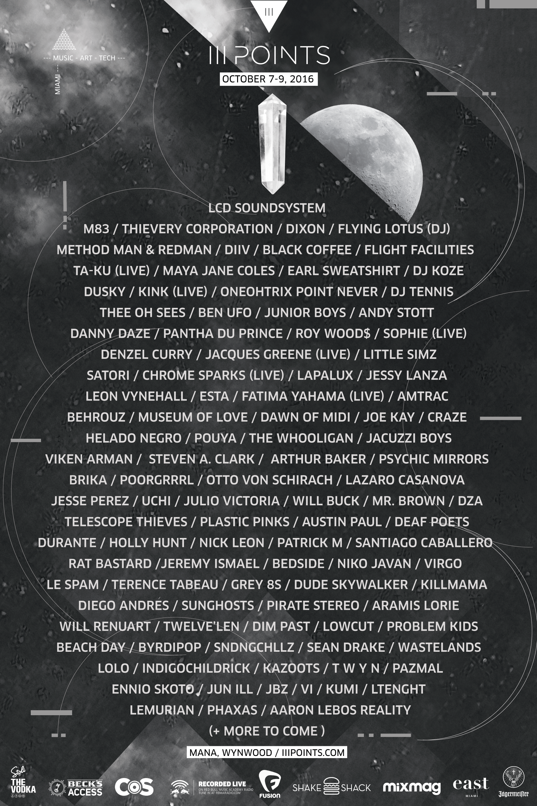 lineup all final  Miamis III Points Festival reveals 2016 lineup