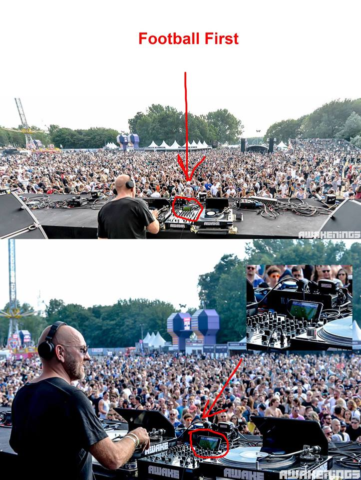 13516563 1135952476463929 3034749901478777821 n German DJ Sven Väth caught watching soccer game during his festival set