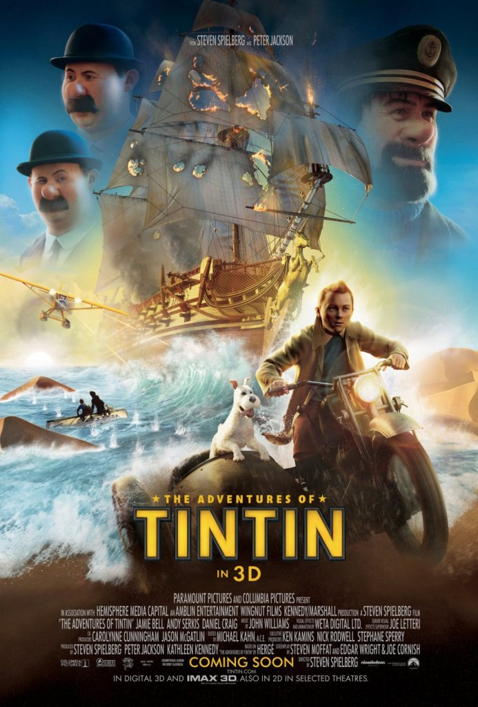 adventures of tintin poster Ranking: Every Steven Spielberg Movie from Worst to Best