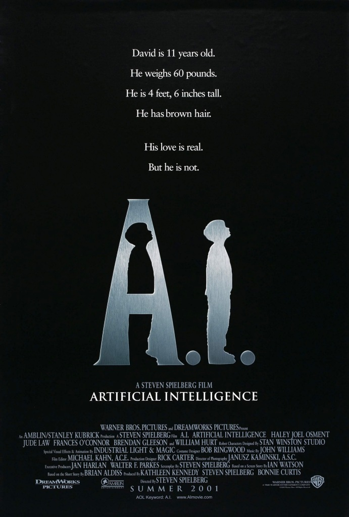 ai poster Ranking: Every Steven Spielberg Movie from Worst to Best