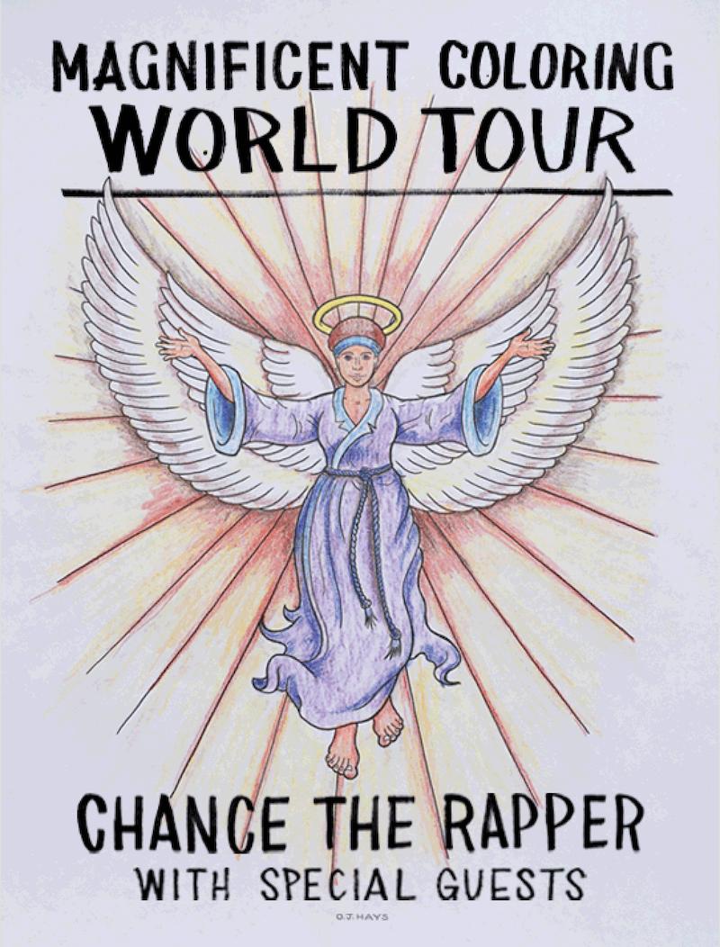 coloring book tour chance rapper Chance the Rapper announces Magnificent Coloring World Tour