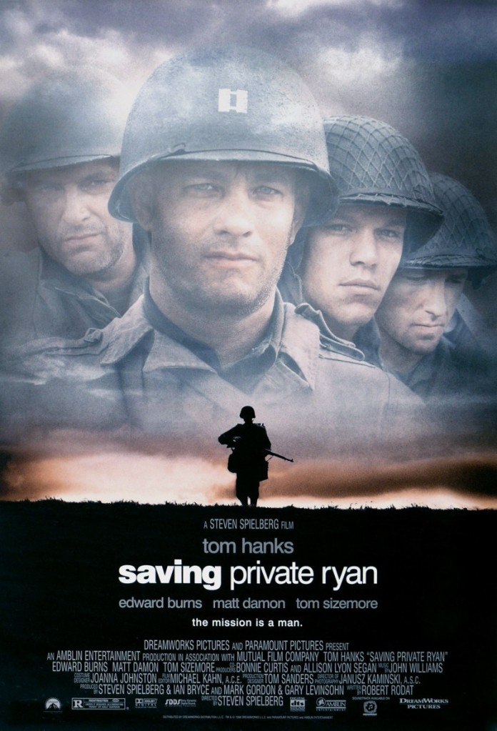 saving private ryan poster Ranking: Every Steven Spielberg Movie from Worst to Best