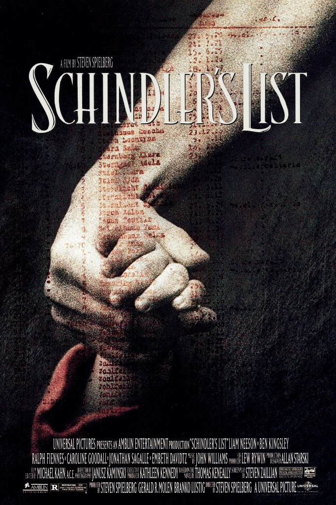 schindlers list poster Ranking: Every Steven Spielberg Movie from Worst to Best