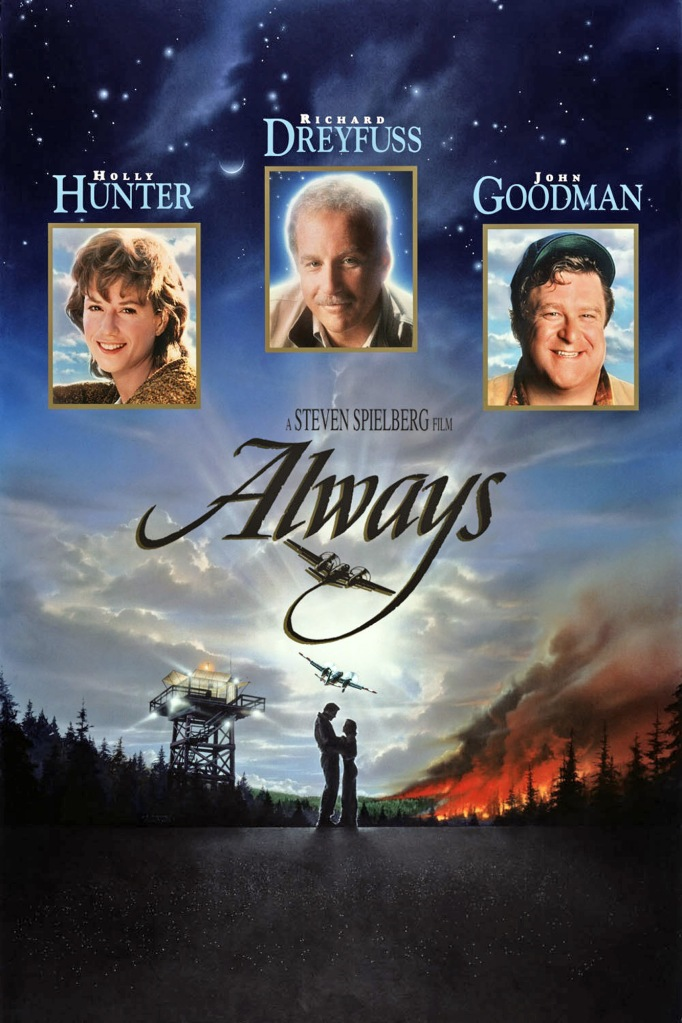 Audrey Hepburn, Always (1989, Steven Spielberg) starring Holly Hunter, Richard Dreyfuss and John Goodman