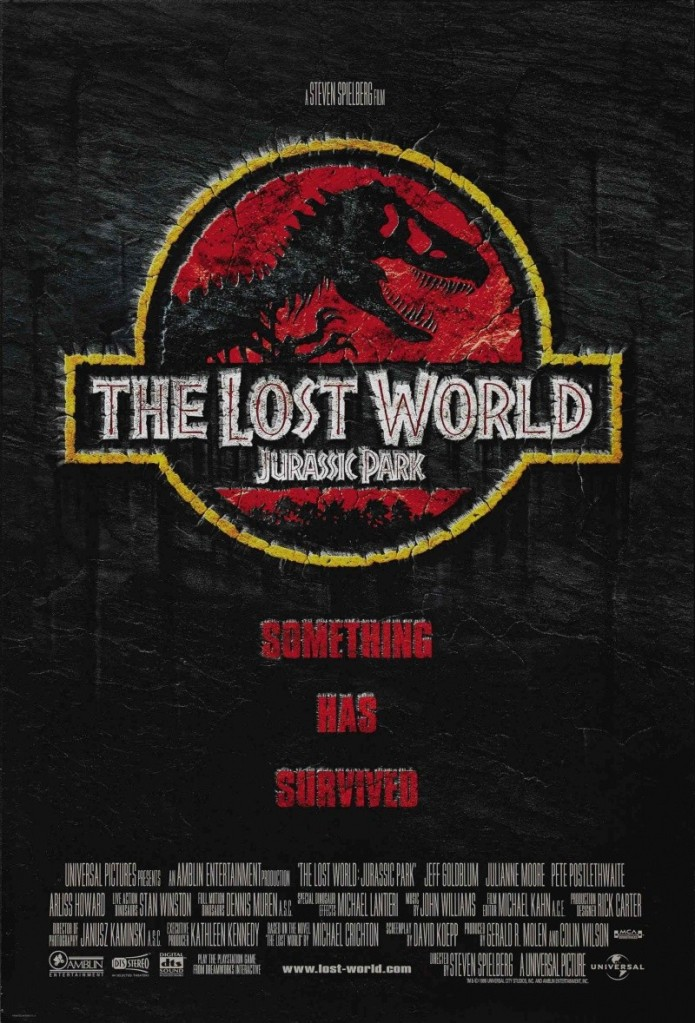 the lost world jurassic park poster Ranking: Every Steven Spielberg Movie from Worst to Best