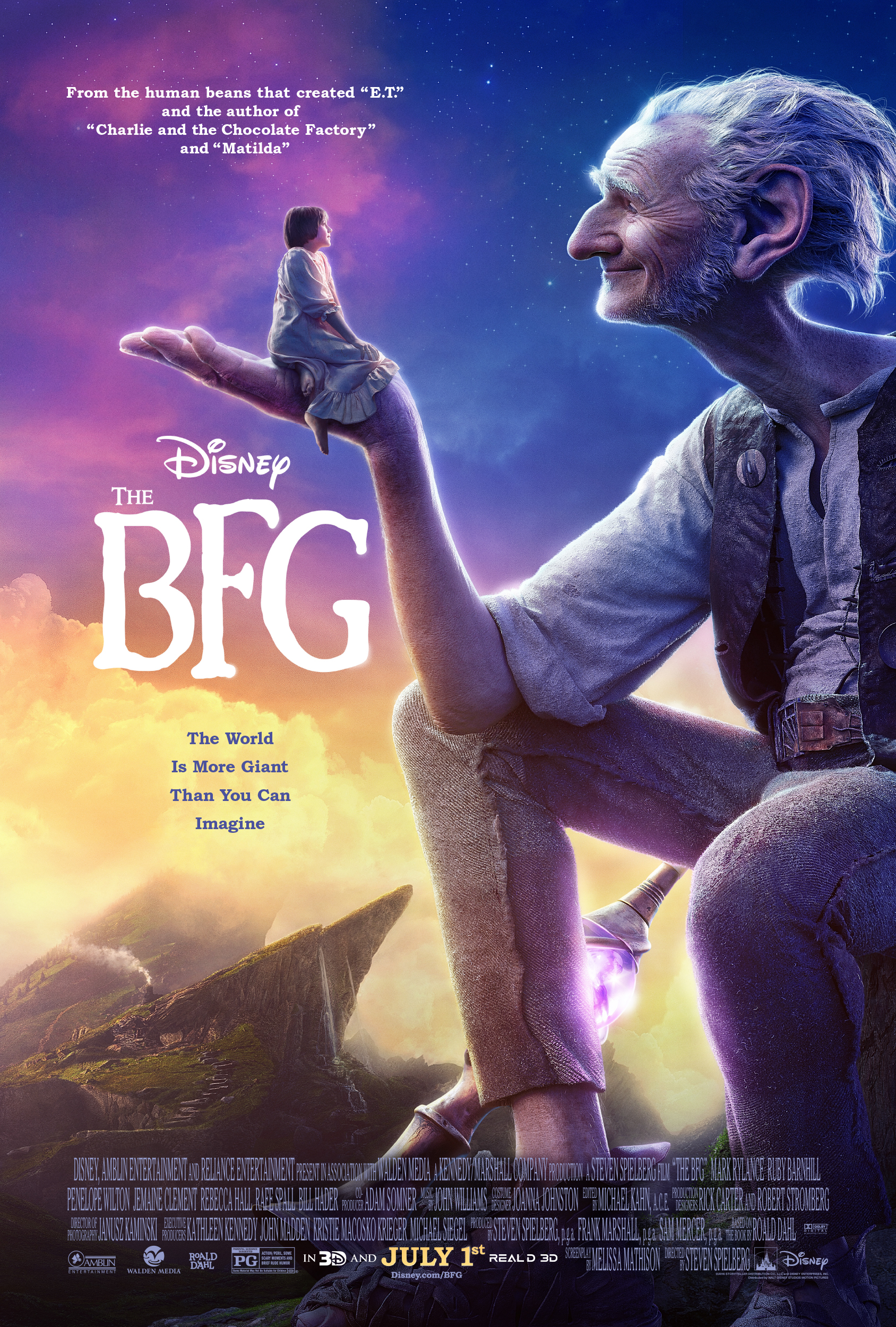 the bfg poster Ranking: Every Steven Spielberg Movie from Worst to Best