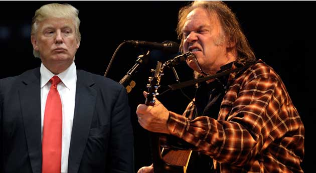 trump and young 10 Songs Artists Pulled from Republican Campaigns